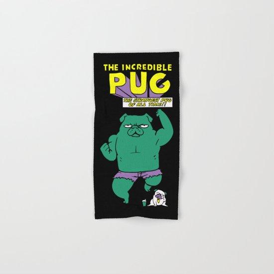 The Incredible Pug Hand & Bath Towel