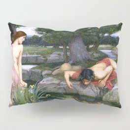 Echo and Narcissus by John William Waterhouse Pillow Sham