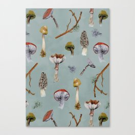 Mushroom Forest Party Canvas Print