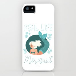 Real Life Mermaid Costume Gift iPhone Case