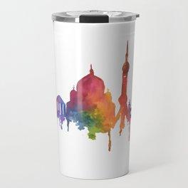Rainbow Watercolour Monuments Travel Mug