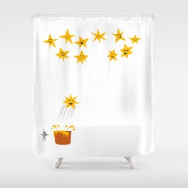 Jumping star Shower Curtain