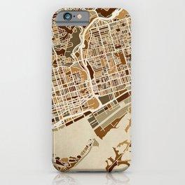 Toronto Street Map iPhone Case