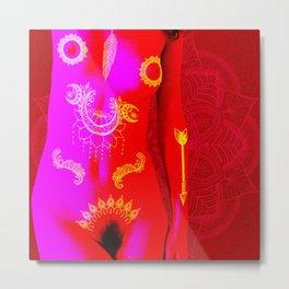 Quiverish Black Light Boho 6 Metal Print