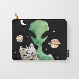 aliens and cats are human haters Carry-All Pouch