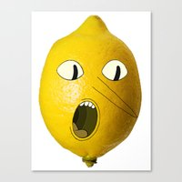 lemongrab Canvas Prints featuring Lemongrab! by Al's Visions