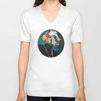 wonderland V-neck T-shirts featuring Wonderland by Lydia Coventry