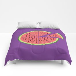 Watermelon Pizza Comforters
