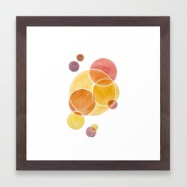 Blush Circles Geometric Framed Art Print
