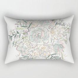 Succulent Bouquet (colour) Rectangular Pillow