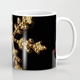 Abstract Golden Holiday Star Coffee Mug