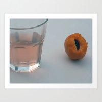peach Art Prints featuring peach  by the secret doors