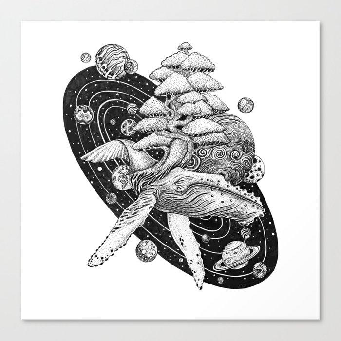 Space Whale Canvas Print
