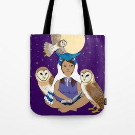 Owl Girl Tote Bag