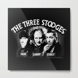 The Threee Stooges Metal Print
