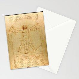 Leonardo da Vinci - Vitruvian Man Stationery Cards