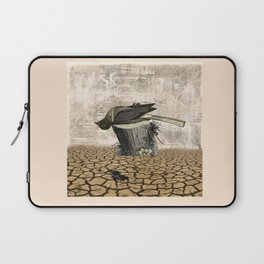 BLACK BIRD Halloween Illustration Laptop Sleeve