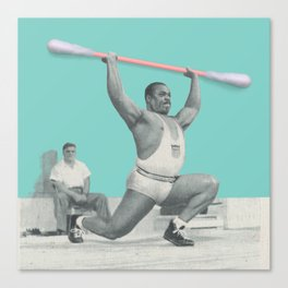 The weightlifter Canvas Print