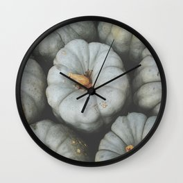 Gray Pumpkins Wall Clock
