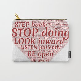 Words Of Wisdom Carry-All Pouch