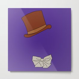 Willy Wonka Silhouette Metal Print