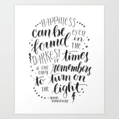 Turn on the Light Art Print