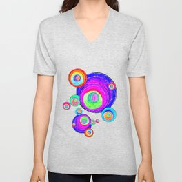 Colorful Secret Geometry | painting by Elisavet #society6 Unisex V-Neck