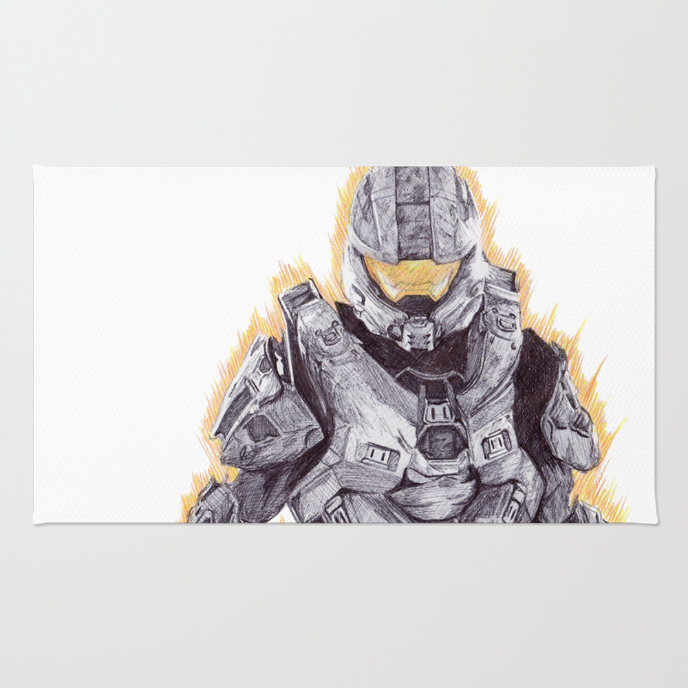 Halo Master Chief Rug by Demoose21 RUG939476