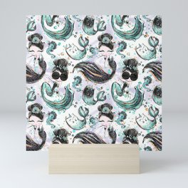Audrey Mermaid Pattern 04 Mini Art Print