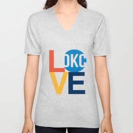 OKC Thunder LOVE  Unisex V-Neck