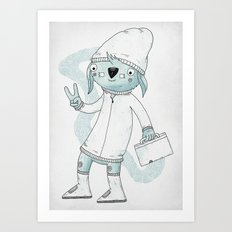 Badge of approval Art Print