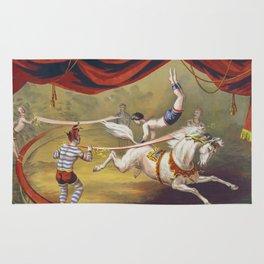 Banner Act - Vintage Circus Art, 1873 Rug