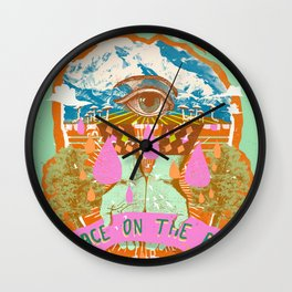 PEACE ON THE RISE Wall Clock