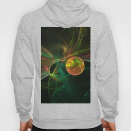 Abstract fractal orange planet. Space theme. Computer generated graphics. Hoody