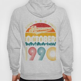 Thirty Years Old Gifts Vintage October 1990 30th Birthday Celebration Hoody