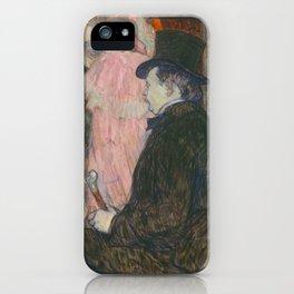 Henri de Toulouse-Lautrec, Maxime Dethomas, 1896 iPhone Case