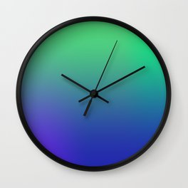 Green Blues Wall Clock