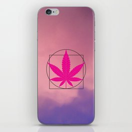 vitruvian marijuana iPhone Skin