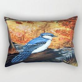 Blue Jay Life Rectangular Pillow