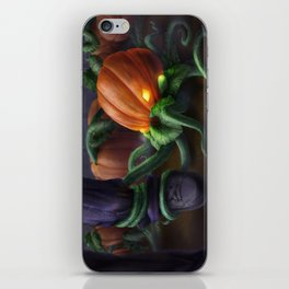 Pumpkin Octopus iPhone Skin