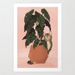 tiger at heart Art Print