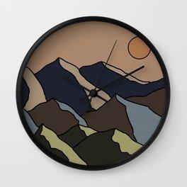 Landscape illustration Wall Clock