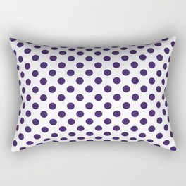 POLKA DOTS, NAVY BLUE Rectangular Pillow