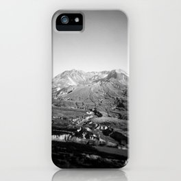 Mount St Helens Holga Black and white film photograph iPhone Case