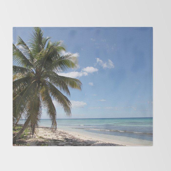 Isla Saona Caribbean Paradise Beach Throw Blanket