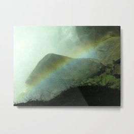 Yosemite rainbow photography Metal Print