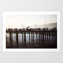 Golden Hour Pacific Park Art Print