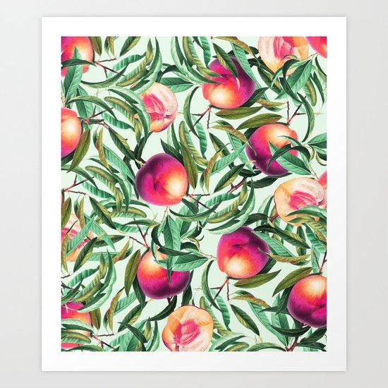 Sweet Peaches #society6 #decor #buyart Art Print