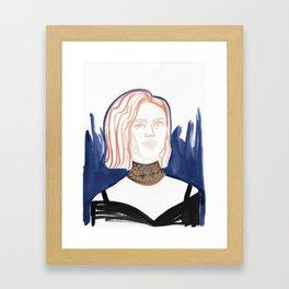 Evan with huge choker Framed Art Print