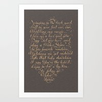 video games Art Prints featuring Video Games LDR Lyrics by Honey Cupcake